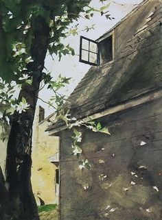 """urgetocreate: """"Andrew Wyeth, watercolor """""""