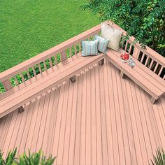 Exterior Wood Stain Colors - Coral White - Wood Stain Colors From OlympicStains.com Exterior Wood Stain Colors, Outdoor Wood Stain, White Wood Stain, Deck Stain Colors, Outdoor Wood Projects, Deck Colors, Stain Wood, Deck Shade, Tan House