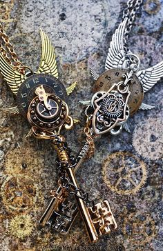 Steampunk!! This reminds me of something from Clockwork Angel by Cassandra Clare. Sans Les ailes pour moi.