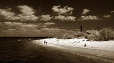 Kim Hambor, Fine Art Photographer Infrared Gallery - Lighthouse 2013 - Sanibel Island, Florida - Beach Scene - Infrared
