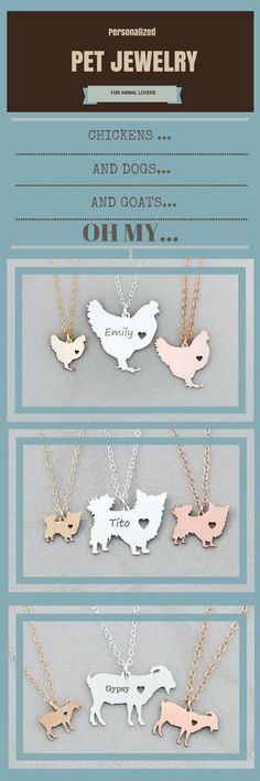 These makes a great gift for that animal lover or as a memorial for that beloved pet . Whether it be turtles, hedgehog, cats, dogs, lizards, cows, horse and more. they have it. They can also be Personalized.  necklaces and bracelets. 935 sterling silver, 14K Gold & Rose Gold Filled #dogs #dogjewelry #horses #oybpinners  #commissionlink