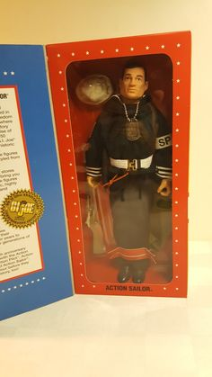 "GI Joe Hasbro 1995 12"" action sailor black hair"