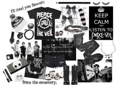 """Besitos~ Pierce The Veil"" by yeah-boy-and-doll-face ❤ liked on Polyvore"