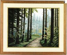 "478""Forest road of the morning TOKYO BUNKA PUNCH NEEDLE EMBROIDERY F/S Japanese Embroidery, Embroidery Kits, Forest Road, Punch Needle, Tokyo, Tapestry, Tutorials, Plants, Tapestries"