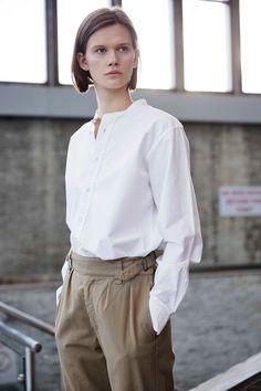 Fashion Designer Margaret Howell for MHL SS16...