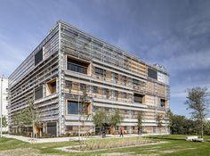 Exterior. ICTA-ICP investigation center by HARQUITECTES & dataAE. Photograph © Adrià Goula.