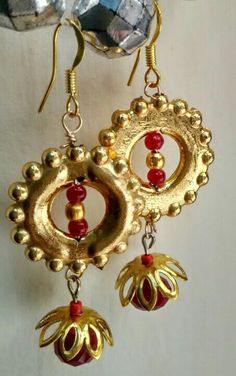 Traditional gold colored hangings