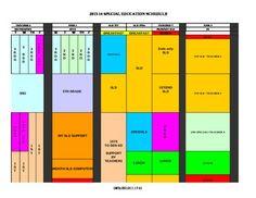 school master schedule template
