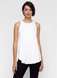 Scoop Neck Sleeveless Tunic in Lightweight Viscose Jersey...all three colors