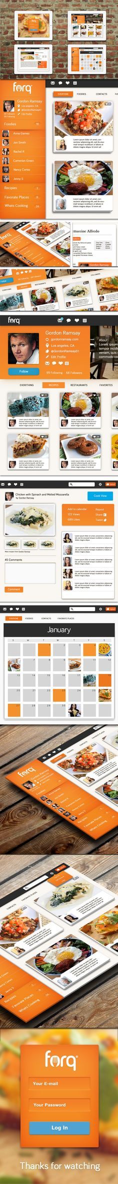 Food Network App by Isaac Sanchez, via Behance