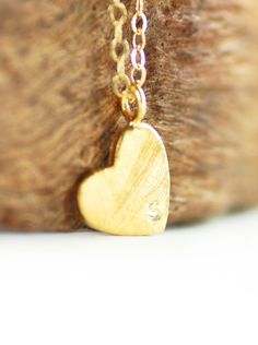 Kuuipo necklace gold heart initial necklace by kealohajewelry