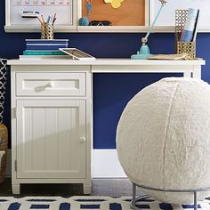 Beadboard Space-Saving Desk + Hutch #pbteen - Alternative for Dan but not in white, in the brown.