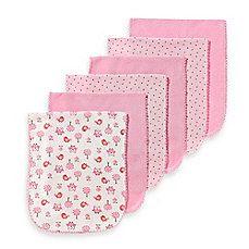 Gerber® 6-Pack Over-The-Shoulder Burpcloths in Girl Colors/Designs