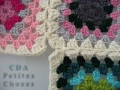 petites choses: Tuto granny squares - assemblage en brides