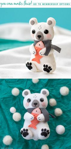 DIY Felt Bear Tutori