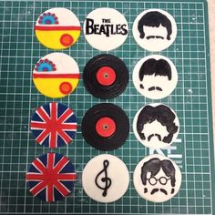 The Beatles Cupcake Toppers