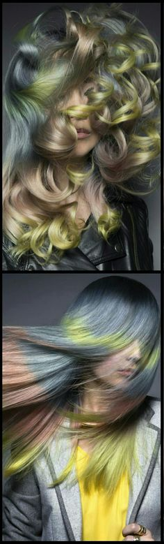 Pastel multi dyed hair color @daryna_barykina