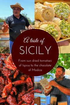 From the sun dried tomatoes of Ispica to the chilli chocoate of Modica, I recently spent a fabulous week discovering new flavours and meeting the wonderful people behind a delicious assortment of food in Sicily. Sicily Travel, Italy Travel Tips, Cinque Terre, Comida Siciliana, Visit Sicily, Sicilian Recipes, Sicilian Food, Things To Do In Italy, Best Of Italy