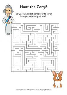 Royal family puzzles - mazes and word searches