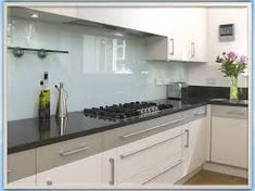 Coloured glass splashbacks are becoming an increasingly popular choice and a welcome change from the traditional tile option. At Glass Splashbacks UK we have. Diy Kitchen Storage, Diy Kitchen Decor, Kitchen Styling, Kitchen Ideas, Kitchen Inspiration, Kitchen Designs, Glass Backsplash Kitchen, Glass Kitchen, Glass Tiles