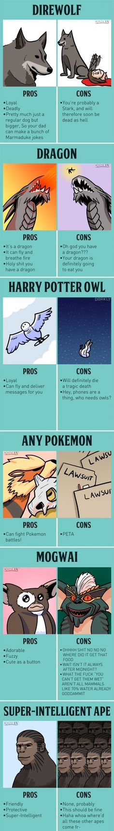 The Pros and Cons of Fictional Pets