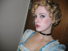 Hair and makeup, 17th century teeny-bopper.