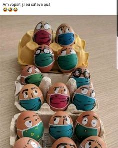 People have been decorating traditional Easter treats such as cakes, eggs and chocolate bunnies (pictured) but adding protective masks to their designs. Funny Easter Eggs, Funny Eggs, Easter Egg Crafts, Chocolate Rabbit, Easter Egg Designs, Egg Art, Egg Decorating, Happy Easter, Easter 2020