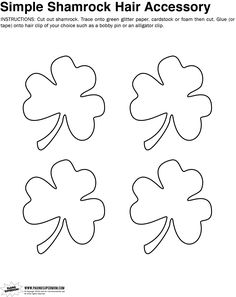 Shamrock Hair Clip Template | Paging Supermom