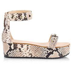 8b9ef059737 Vicini Snake print leather ankle-cuff studded flatform sandals  ViciniShoes   GiuseppeZanotti  Platform. Flat WedgesWedge ...