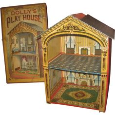 Antique Dollhouse, Dollhouse Miniatures, Dolly House, Dolls House Shop, Doll Display, Vintage Paper Dolls, Old Dolls, Antique Toys, Dollhouse Furniture