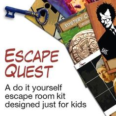 This printable kit transforms your home into an escape room for your kids. It& super simple and hours of fun for everyone (yes including you! Escape Room Diy, Escape Room For Kids, Escape Room Puzzles, Kids Room, Breakout Game, Breakout Boxes, Spy Party, Party Kit, Party Ideas