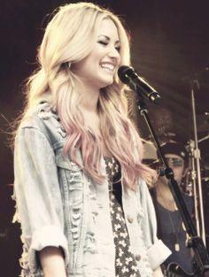 blonde + pink
