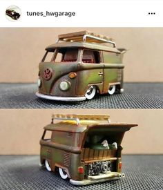 75 of the most amazing and mind blowing custom Kool Kombi creations. A Tribute to my favourite Hot Wheels casting, the Kool-Kombi Custom Hot Wheels, Custom Cars, Weird Cars, Cool Cars, Transporter, Diecast Models, Old Toys, Vw Bus, Toys For Boys