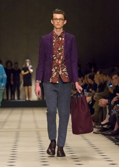 Floral prints and bonded cashmere and suede outerwear with The Carryall bag in deep claret