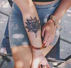 white lotus tattoo