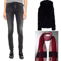 Thanksgiving @maruschkademargo  Autumn Sunday  Highrise Skinny Jeans #goldsign fitted short rabbit fur jacket #tavusmilano with leather trim at the closure and double zipper & Couture hand painted cashmere stole #richiamiscarves  in pink red and burgundy tones  Available at http://ift.tt/1z2y79O #instafashion #instashop #instacool #instalook #instastyle #fashionstyle #fashiongram #fashionpost #fashionshop #fashionshopping #stockholm #stockholmshopping #fashiontrends