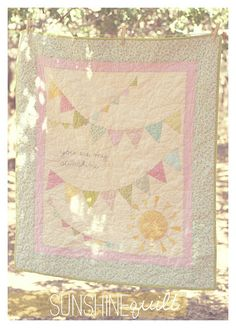 you are my sunshine [pennant banner quilt] tutorial