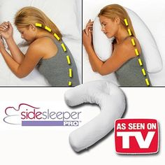 Bed Pillows Side Sleeper Pro Neck & Back Pillow:Holds Your Neck / Spine During Sleep Health & Garden Side Sleeper Pro, Side Sleeper Pillow, Back Pillow, Pillow Set, Contour Pillow, U Shaped Pillow, Collections Etc, Pillow Reviews, Neck Pain
