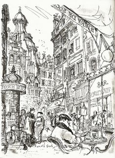 Ronald Searle Paris Sketchbook | Flickr - Photo Sharing!