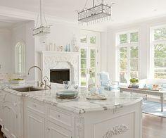 White Kitchen! love this!