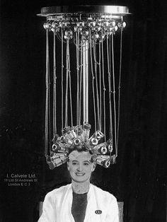 Maschine zur Herstellung von Dauerwellen, 1923
