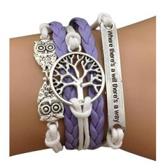 Lavender Owl Arm Party Bracelet - $13.00