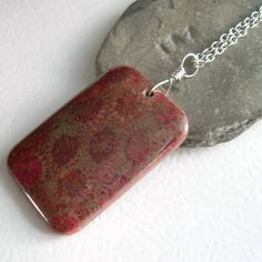Fossilized Coral Necklace Rust Fossil Jewelry by cindylouwho2, $28.00