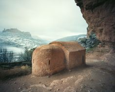 A 13th century adobe structure captured using a pinhole camera by Sebastian Schutyser. Photo from: EarthArchitecture.org