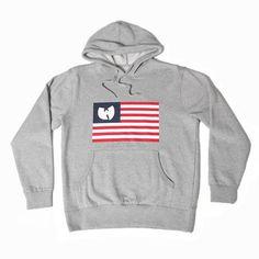 Wutang Brand Ltd Iron Flag Pulllover in Heather   Wutang Clan Official Website   Shop Wutang Clan Winter Clothes & Apparel Online