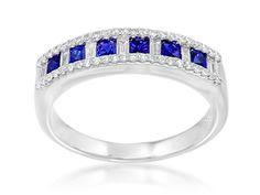Armadani Jewels of Beaver Creek -  Anniversary Blue Sapphire and Diamond Band, $3,250.00 (http://www.armadanijewels.com/anniversary-blue-sapphire-and-diamond-band/)
