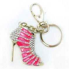 Ballerina Ballet Keyring Gold Plated with Sparkly Diamante Stones Gift Bag