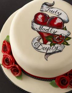 Love Tattoo Cake - how to