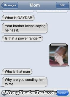 Parents shouldn't text. The facepalm is perfect!