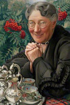 "✿Time For Coffee & Tea✿ Keith Henderson (1883-1982) - ""Mrs. Ryan"""